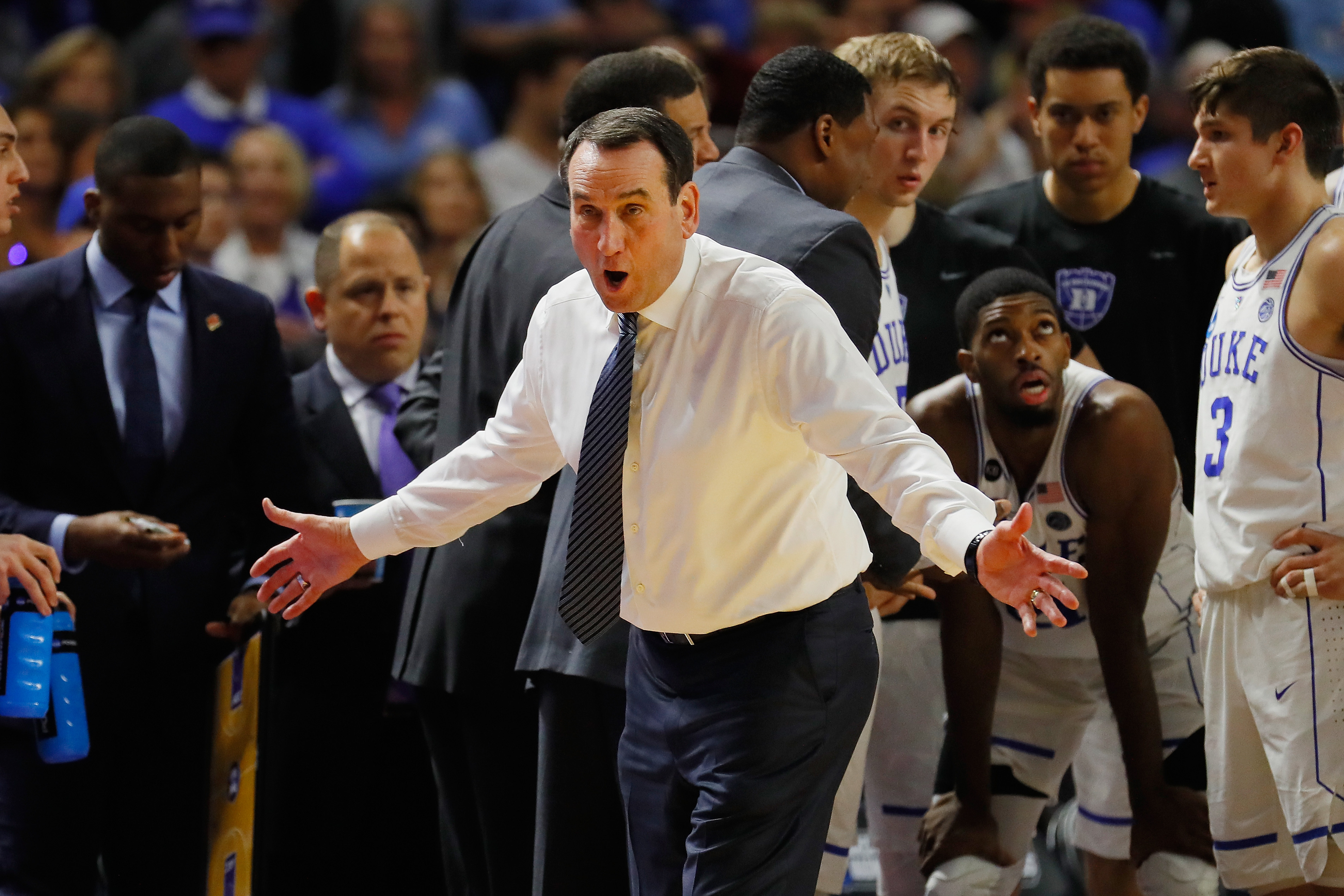 Krzyzewski to Miss Duke-Florida State Game Saturday