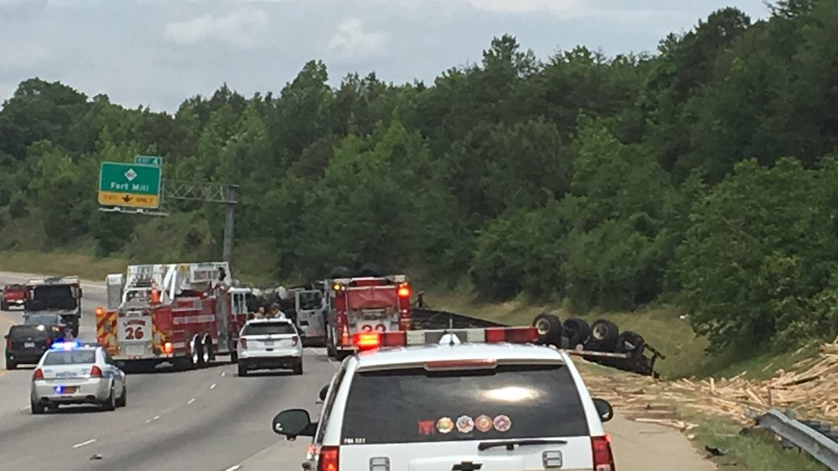 Images of Truck Overturned