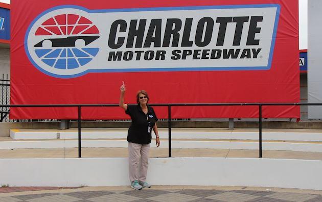 Charlotte motor speedway 39 s senior tour guide is for Charlotte motor speedway tours